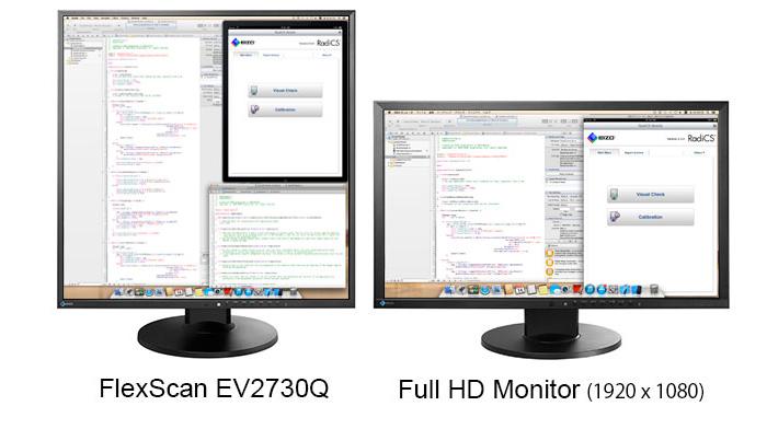 EIZO EV2730Q un monitor 1:1 de 1920x1920 puntos de resolución, Imagen 1