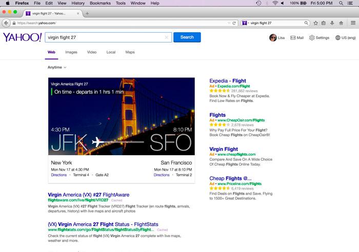 Firefox sustituye a Google por Yahoo en su buscador por defecto, Imagen 1