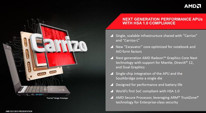 AMD muestra sus nuevas APU Carrizo y Carrizo-L para portátiles, Imagen 1