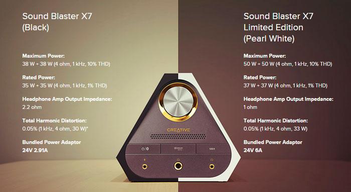 Creative aumenta la potencia de su Sound Blaster X7 y la tiñe de blanco en una edición limitada, Imagen 3
