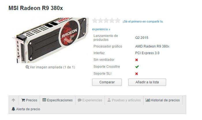Empiezan a aparecer listadas en tiendas las nuevas R9 390x, R9 380X y R9 370X, Imagen 1