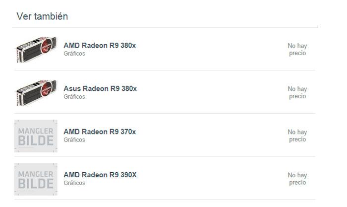 Empiezan a aparecer listadas en tiendas las nuevas R9 390x, R9 380X y R9 370X, Imagen 2