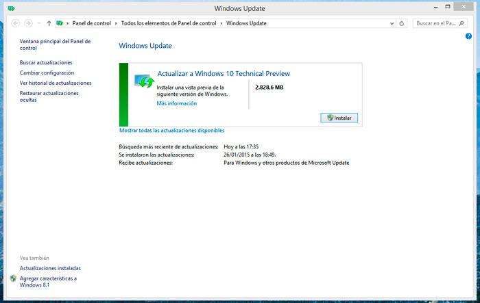 Es posible actualizar a Windows 10 desde Win 7 y 8 mediante Windows Update, Imagen 1