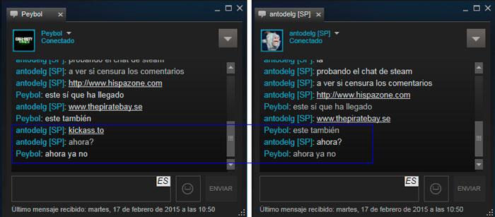 Valve borra los chats de los usuarios de Steam que mencionen webs de torrent, Imagen 1