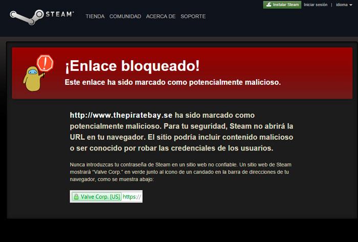 Valve borra los chats de los usuarios de Steam que mencionen webs de torrent, Imagen 2