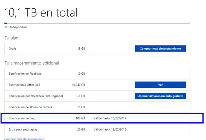 Microsoft ofrece 100 GB gratis en Onedrive, Imagen 1