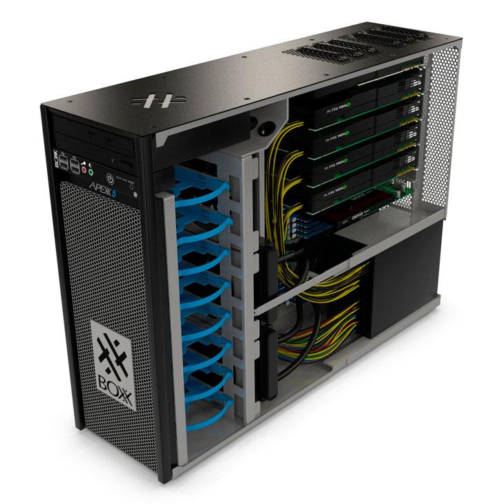Boxxtech APEXX 5, una workstation con 36 núcleos, 4 gráficas y hasta 256 GB de RAM DDR4, Imagen 1