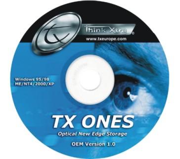El Grupo TX presenta TX Ones, software de grabación de CDs y DVDs, Imagen 1