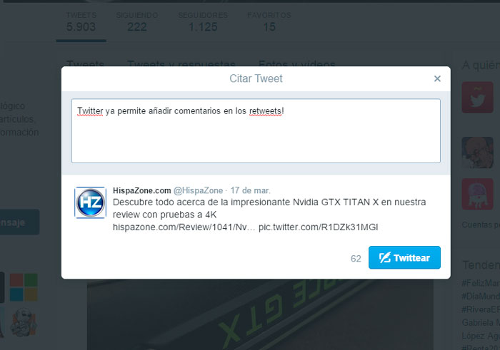 Twitter ya permite añadir comentarios a los retweets, Imagen 2