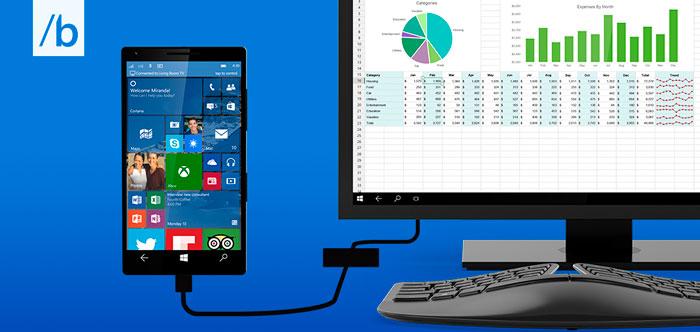 Los móviles con Windows 10 se convertirán en PCs al conectarles una pantalla, Imagen 1