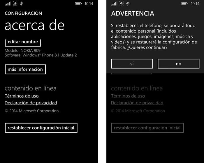 Restaurar de fábrica un smartphone con iOS, Windows Phone o Android, Imagen 2