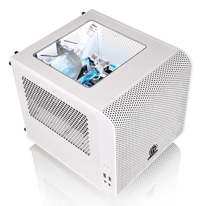Thermaltake tiñe de blanco nieve su cubo Mini ITX Core V1, Imagen 1