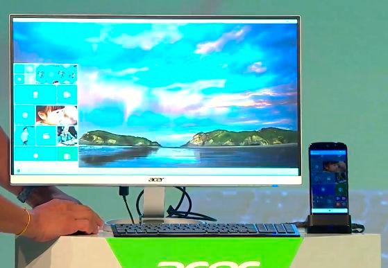 Acer enseña un smartphone con Windows 10 que puede usarse como sobremesa, Imagen 2