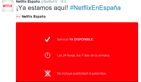 Netflix llega a España con un mes de prueba gratuita, Imagen 1