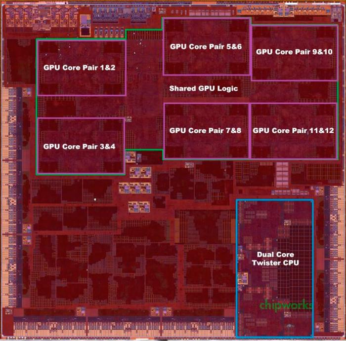 Desmontan el SoC A9X de Apple y desvelan todas sus especificaciones, Imagen 1