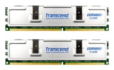 Nuevos módulos a 466 y 500 Mhz de Transcend, Imagen 1