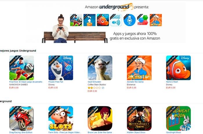 Llega a España la tienda de apps gratuitas Amazon Underground, Imagen 1