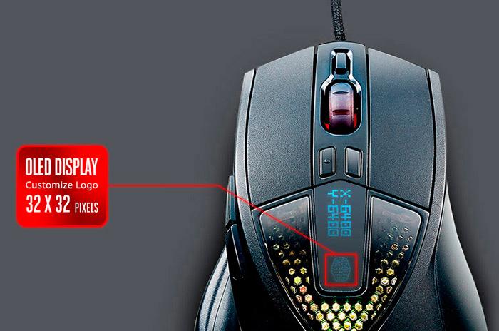 Cooler Master Sentinel III, un ratón con un panel OLED personalizable, Imagen 1