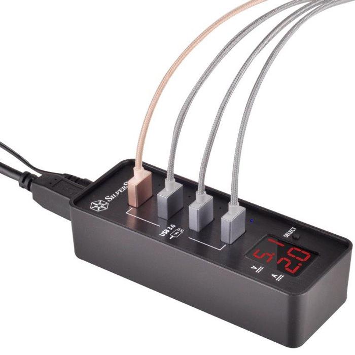 Nuevo HUB USB 3.0 SilverStone EP03 con carga rápida, Imagen 1
