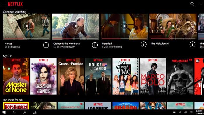 Netflix ya tiene su aplicación Universal para Windows 10 y soporta Cortana, Imagen 1