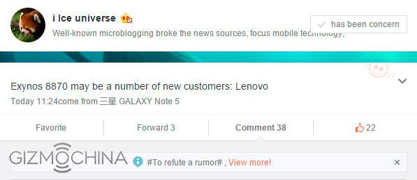 Lenovo integrará el nuevo Exynos 8870 en smartphones, Imagen 1