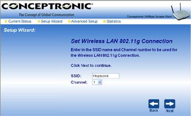 Análisis Punto de acceso C54APT Wireless 802.11g de Conceptronic, Imagen 9