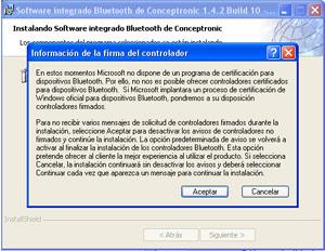Análisis módem Conceptronic CBT56 Bluetooth + receptor Bluetooth, Imagen 5