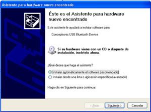 Análisis módem Conceptronic CBT56 Bluetooth + receptor Bluetooth, Imagen 6