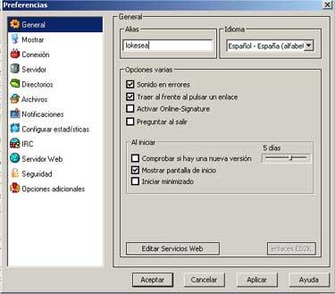 Configuración del eMule 0.27c, Imagen 1