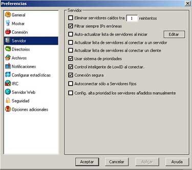 Configuración del eMule 0.27c, Imagen 4