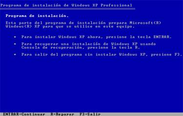 Consola de Recuperación de Windows, Imagen 2