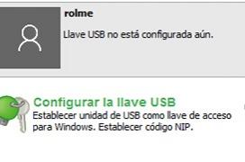 Cómo iniciar sesión en Windows con un pendrive