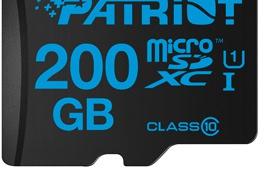 Patriot lanza  nuevas tarjetas microSDXC con 200 GB de capacidad