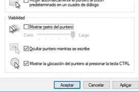 Como activar el localizador de cursor de Windows 10