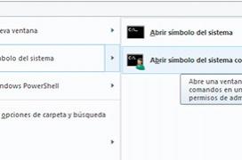 Como abrir una consola de comandos de Windows desde el explorador
