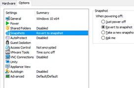 Como resetear una máquina virtual a su estado inicial en cada arranque con VMWare Workstation