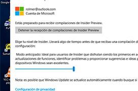 """Como recibir las actualizaciones de """"insider"""" de Windows 10"""