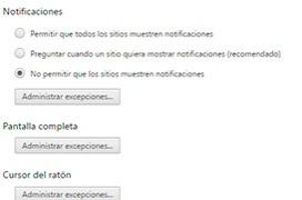 Como bloquear completamente las notificaciones de Chrome