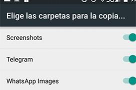 Como configurar el backup de imágenes de cualquier aplicación con Google Fotos