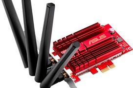 ASUS anuncia una tarjeta WiFi ac PCIe que alcanza los 3.100 Mbps