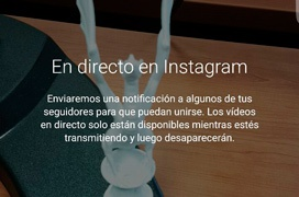 Ya disponible la transmisión de vídeo en streaming en Instagram