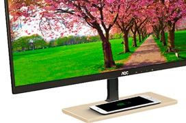 Los monitores AOC P2779VC incluyen carga inalámbrica