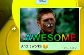 Whatsapp trabaja en un buscador de gifs integrado