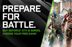 Los compradores de una GTX 1060 también recibirán el For Honor o Ghost Recon: Wildlands