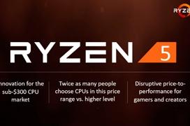 AMD anuncia los procesadores Ryzen 5 con multiplicador desbloqueado