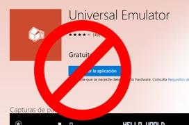Microsoft retira todos los emuladores de la tienda de Windows
