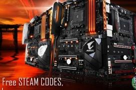 Gigabyte regala  hasta 60 Euros en vales de Steam por la compra de sus placas AORUS