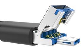 Este pendrive de Silicon Power tiene USB, USB-C y microUSB a la vez