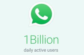 Whatsapp alcanza mil millones de usuarios activos al día