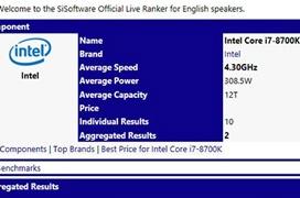 Benchmarks del Intel Core i7-8700K muestran hasta un 47% más de rendimiento que el i7-7700K